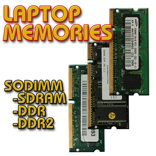 Different Laptop Memory Chips